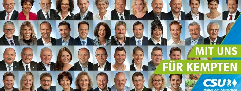 CSU alle Stadtratskandidaten 2020
