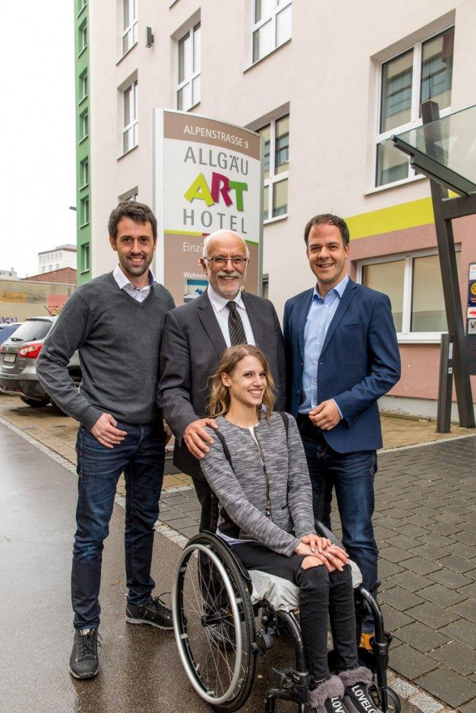 Für ein soziales Miteinander: Unsere Stadtratskandidat*innen Andreas Kibler, Joseph Mayr, Ramona Swoboda und Stephan Prause