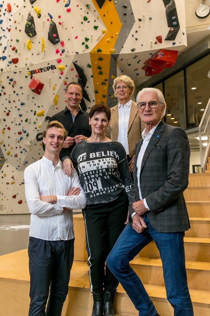 Für Sport, Freizeit & Naherholung: Unsere Kandidat*innen Alexander Dobrawa, Alexander Wulf Buck, Petra Vordermayer, Hilde John und Harald Platz