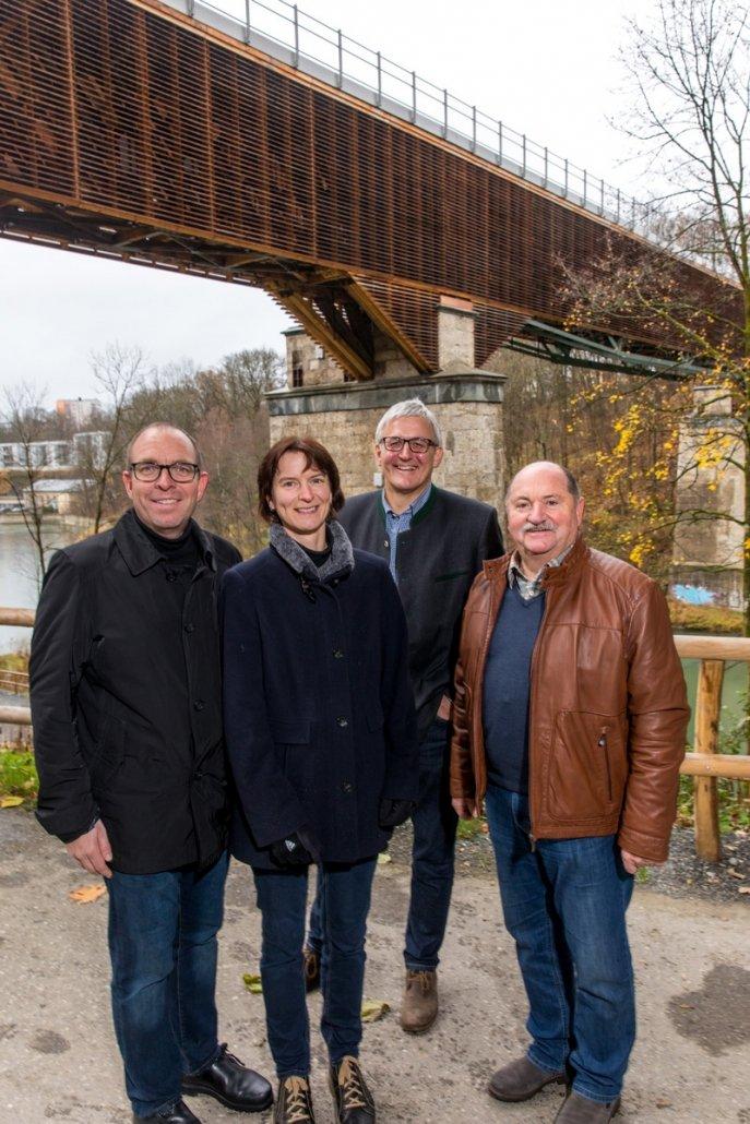 Für Mobilität und Tourismus: Unsere Kandidat*innen Stephan Kraus, Andrea Hillgärtner, Helmut Berchtold und Karl Sperl