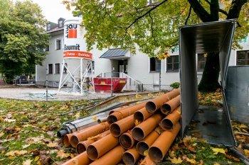 Baustelle Kindergarten Klecks