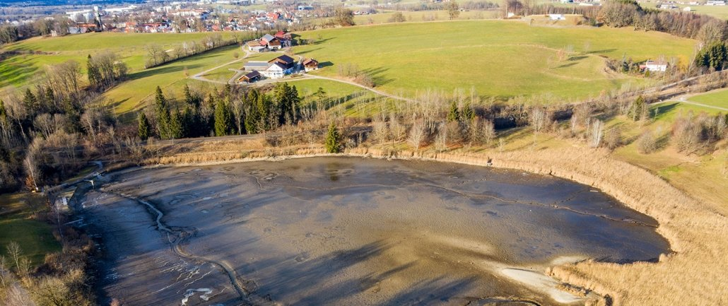 Bachtelweiher, Luftaufnahme
