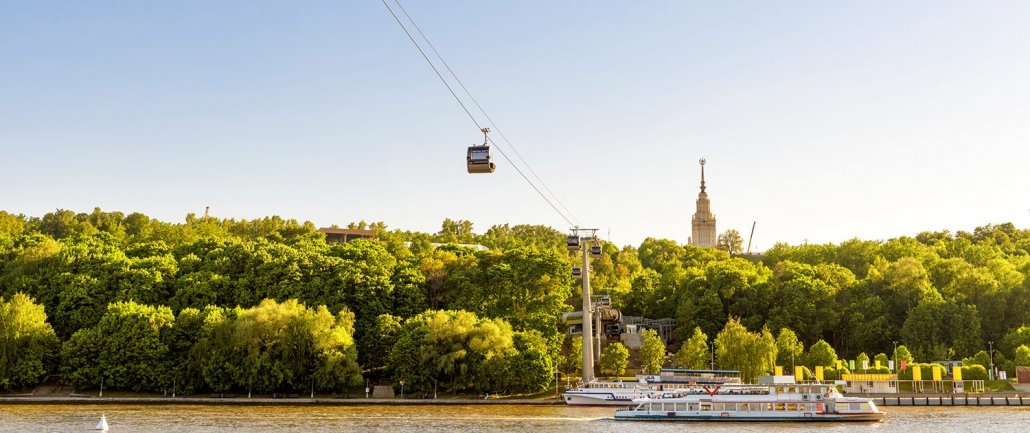 Urbane Seilbahn Moskau