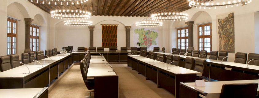 Rathaus Kempten großer Sitzungssaal