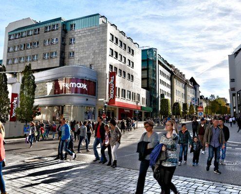 Kempten, Fußgängerzone Fischerstraße/Bahnhofsstraße